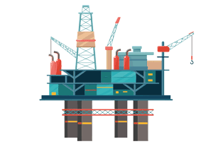 Valiant Offshore oil rig illustration