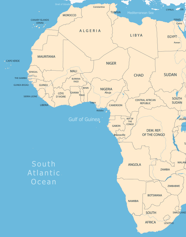 Valiant Offshore gulf of guinea coastline