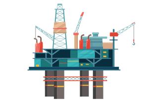Valiant Offshore oil rig illustration