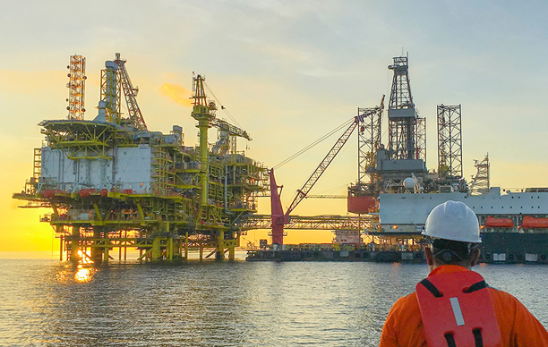 Valiant Offshore Deepwater oil rig